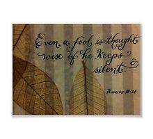 Scripture Proverbs verse calligraphy art by Melissa Goza