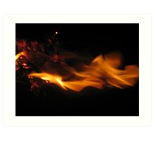 Fire Fight #1  Art Print