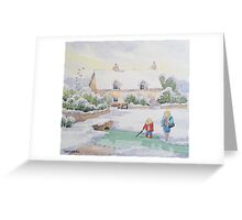 TOO COLD FOR FISH Greeting Card