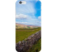 Green Countryside landscape in Yorkshire Dales National Park, United Kingdom iPhone Case/Skin