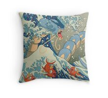 The Great Wave off Kanto Throw Pillow