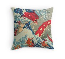 The Great Wave off Kanto - Shiny Version Throw Pillow