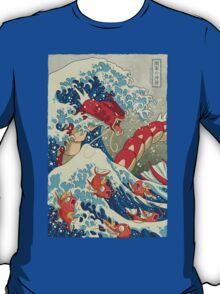 The Great Wave off Kanto - Shiny Version T-Shirt