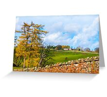 Green Countryside landscape in Yorkshire Dales National Park, United Kingdom Greeting Card