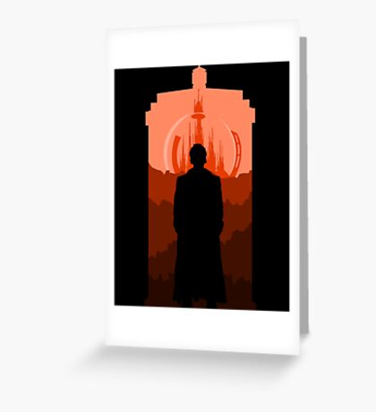 Time Lord And His Home Planet Greeting Card