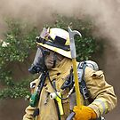 LAFD Firefighter Paramedic standing ready by chibiphoto
