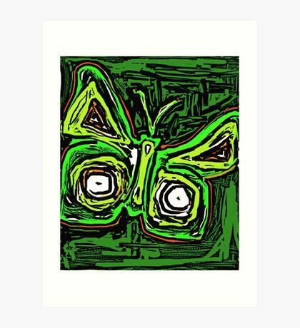 orange&green butterfly Art Print