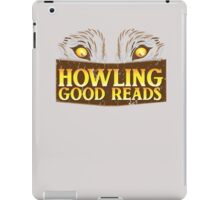 Howling good reads distressed version  The Others Written in red or Murder of Crows series fan art iPad Case/Skin