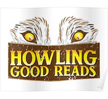 Howling good reads distressed version  Poster