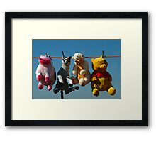HANG 'EM HIGH (Not much Hunny up here!) Framed Print