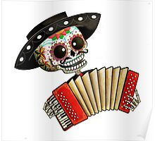 Mexican Skeleton Musician Poster