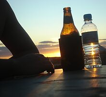 Sunset beers, Nullarbor Plain, South Australia by markor
