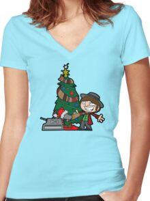 Christmas Doctor! Christmas! Women's Fitted V-Neck T-Shirt
