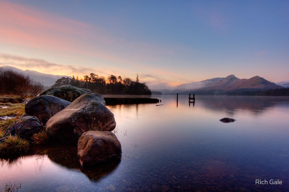 Winter Light on Derwent Water by Rich Gale