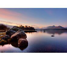 Winter Light on Derwent Water Photographic Print