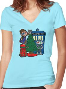 Tenth Christmas! Women's Fitted V-Neck T-Shirt