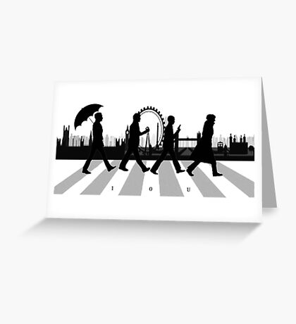 221B Abbey Road (Version Two) Greeting Card