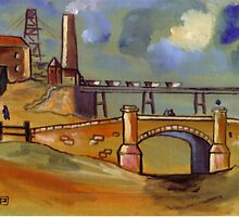 The old colliery (from my original acrylic painting) by sword