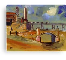 The old colliery (from my original acrylic painting) Canvas Print
