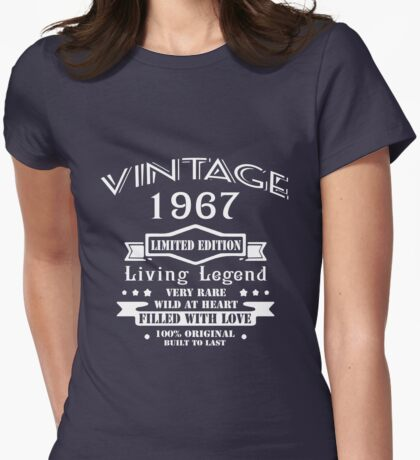 Vintage Age 50 Years 1967 Perfect 50th Birthday Womens Fitted T-Shirt