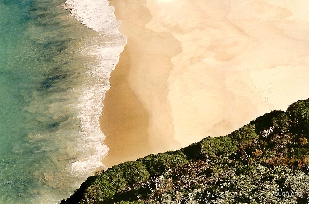 Beach from Cliff by hughlong