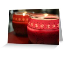 Festive Candlelight. Greeting Card