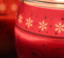 Festive Candlelight. Sticker