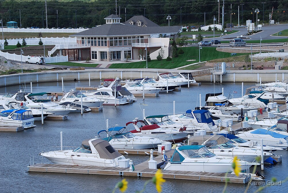 Marina Shores Boats and Yacht Club by Karen Goad