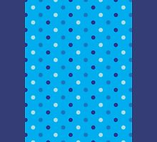Polka Dots Blue Unisex T-Shirt