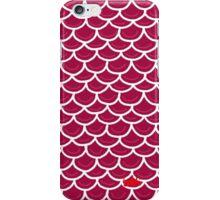 Fish scales burgundy iPhone Case/Skin