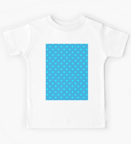 Polkadots Blue and Turquoise Kids Tee