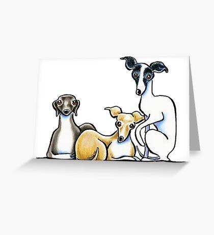 Italian Greyhound Trio Greeting Card