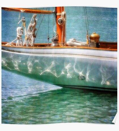 Boat detail, English Harbour Poster