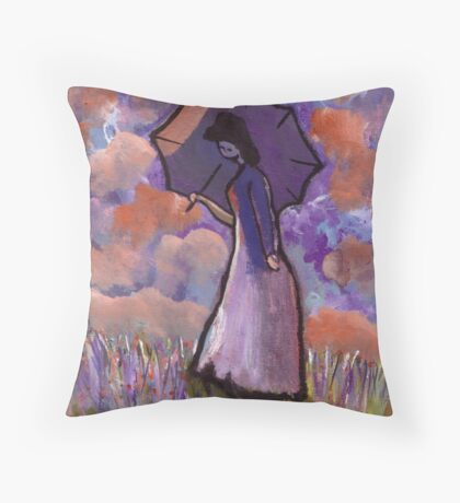 Summertime (from my original acrylic painting) Throw Pillow