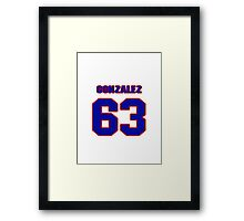 National baseball player Alberto Gonzalez jersey 63 Framed Print