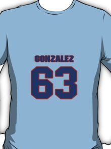 National baseball player Alberto Gonzalez jersey 63 T-Shirt