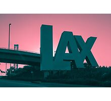 Flying out of LAX Photographic Print