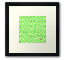 Fish scales green Framed Print