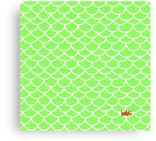 Fish scales green Canvas Print