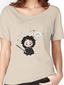 Jon in the Snow Women's Relaxed Fit T-Shirt