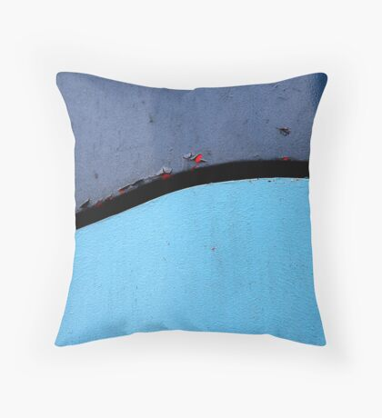 Abstract, Blue with Red Throw Pillow