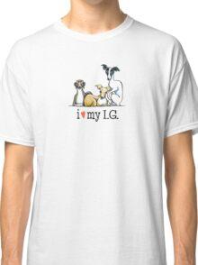 Italian Greyhound Lover {Dark Type} Classic T-Shirt