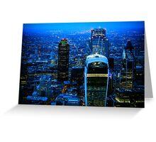Blue Metropolis Greeting Card