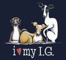 Italian Greyhound Lover {White Type} Kids Tee
