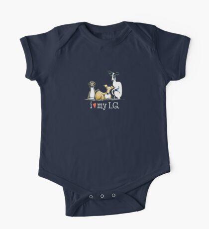 Italian Greyhound Lover {White Type} One Piece - Short Sleeve
