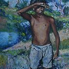 Almost finished - Boy in Bourke, 1968.  by Ozcloggie