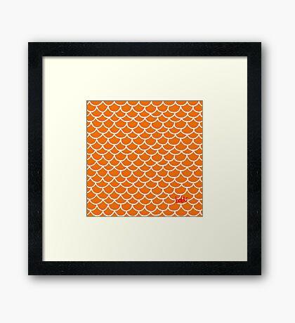 Fish scales orange Framed Print