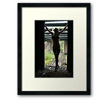 SHADY LADY Framed Print