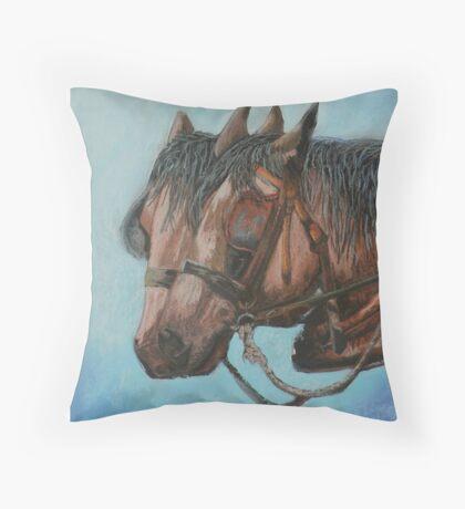 Draft horses.............Flo and Joe Throw Pillow
