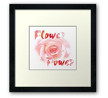 Flower-Power Framed Print